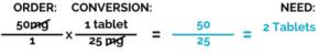 Dimensional Analysis Blog Set Up Step 4