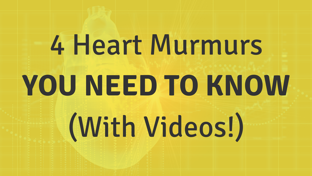 4 Heart Murmurs You Need To Know (With Videos!)